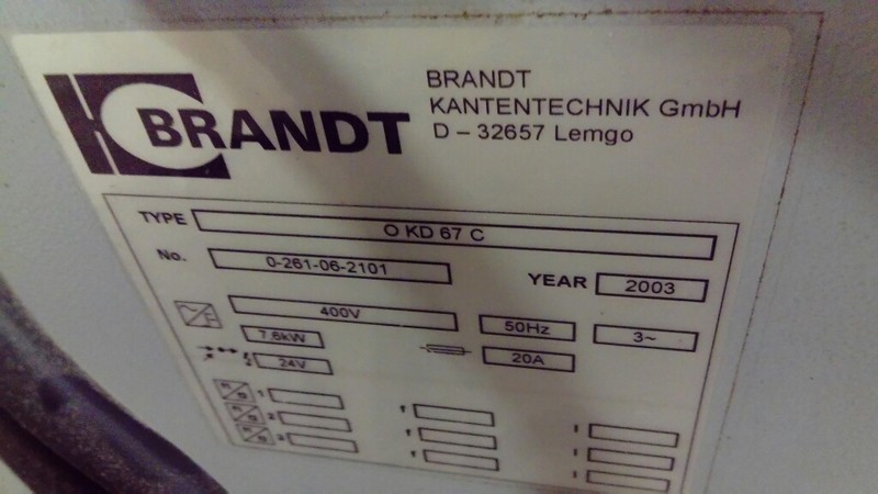 Plaqueuse BRANDT OKD67C