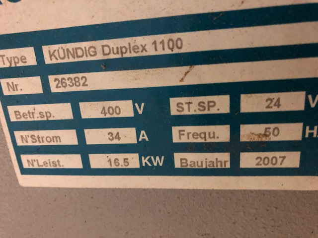Ponceuse Kundig Duplex 1100