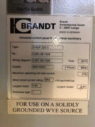 Plaqueuse de chant BRANDT Ambition 1220