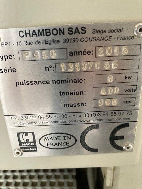 Ponceuse large bande CHAMBON P950